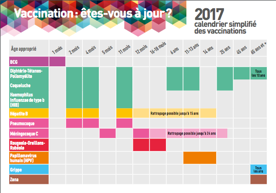 Calendrier vaccinal simplifie 2017